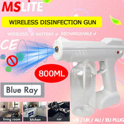 Novedades 2020 blue ray nano pulverizador de desinfección pistola inalámbrica batería pistola máquina desinfectante purificador de aire portátil para el hogar