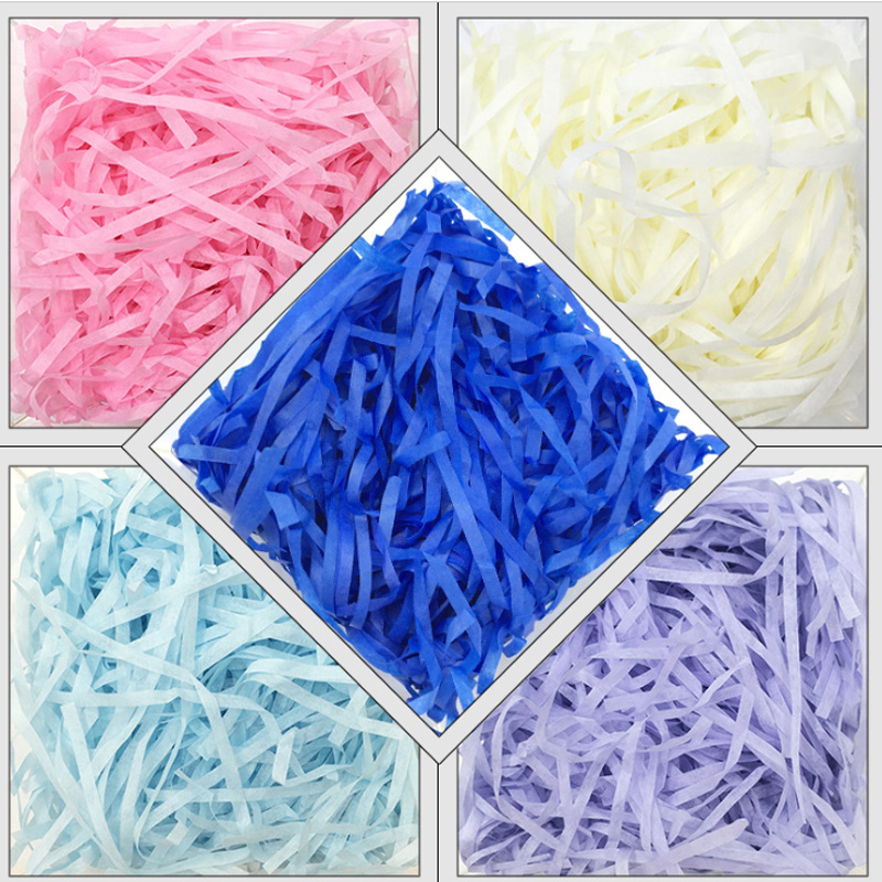30g/50g/100g Colorful Shredded Crinkle Cut Paper Shred Filler For Wedding Birthday Party Gift Box Decoration DIY Boxes Packaging