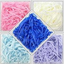 30g/50g/100g Bunte Geschreddert Crinkle Cut Papier Shred Füllstoff Für Hochzeit Geburtstag Party Geschenk box Dekoration DIY Boxen Verpackung