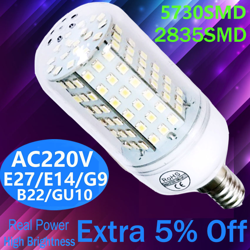 Led Bulb E14 Led Candle Light Bulb Crystal Chandelier 220V E27 Warm White LED Bulb  Lamp Replace 20W 30W 40W Incandescent