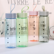 Wheat cup plastic water bottles  cute bottle Thermal Insulation Direct Drinking Brief With Lid