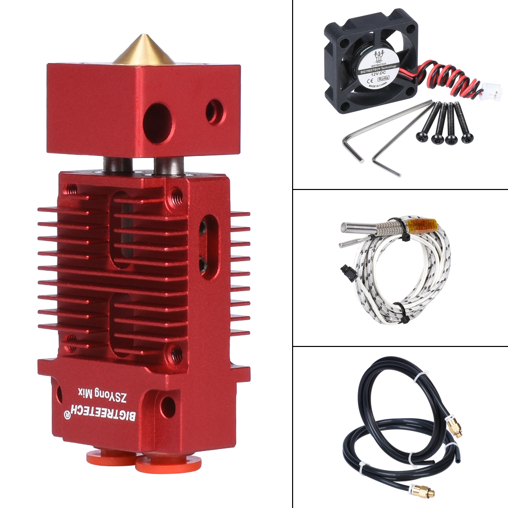 BIGTREETECH 2 IN 1 OUT Hotend Mixed Color 12V/24V 1.75mm Filament Bowden Extruder Upgraded J-head 3D Printer Parts For Titan MK8
