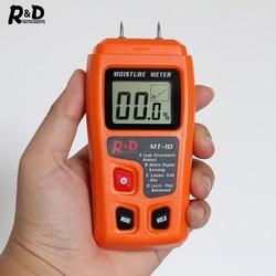 R & D MT-10 EMT01 miernik wilgotności drewna Tester wilgotności drewna higrometr detektor wilgotności drewna tester gęstości drzewa szary pomarańczowy