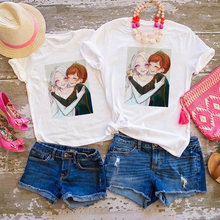 Королева Эльза принцесса Анна Холодное сердце футболка для мамы
