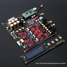 Placa decodificadora TZT Dual ES9038PRO, DAC, DSD 384K /Amanero USB /Bluetooth 5,0, decodificador Coaxial de fibra sin pérdida