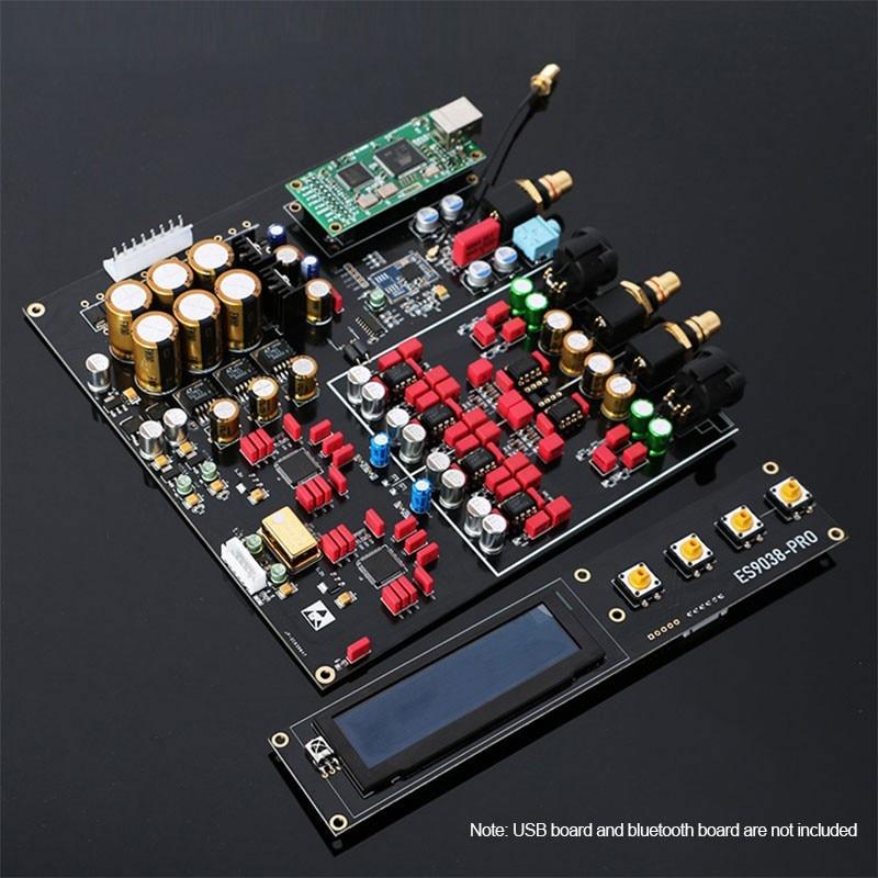 TZT Dual ES9038PRO Decoder Board DAC Board DSD 384K /Amanero USB /Bluetooth 5.0 Lossless Fiber Coaxial Decoder
