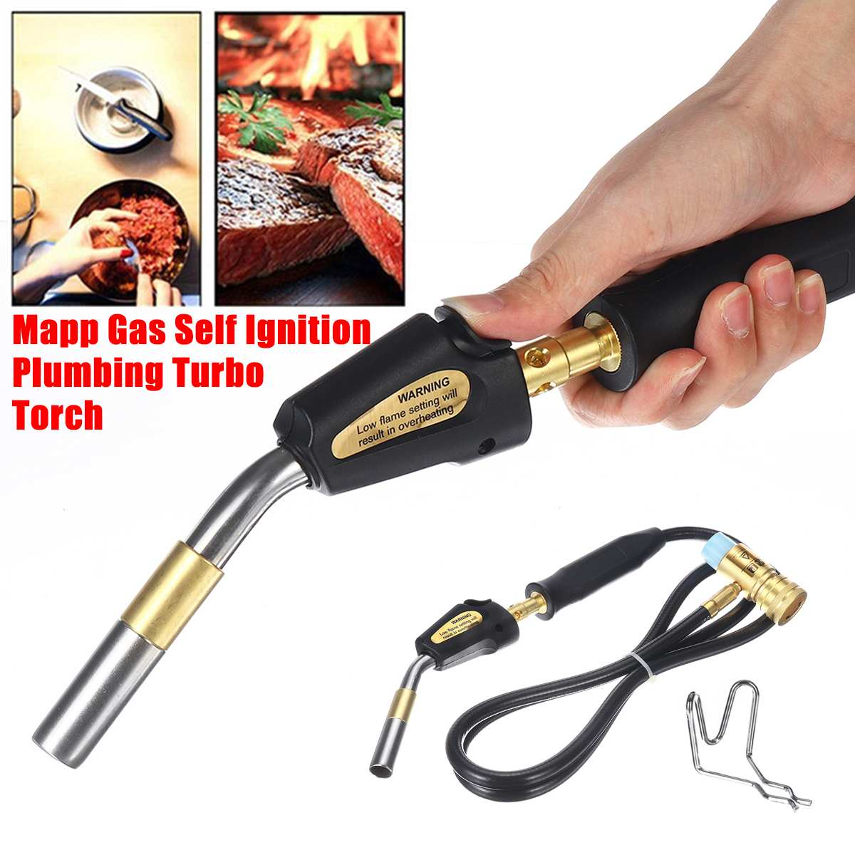 Mapp Torch Hose Gas Gas Torch Welding Plumbing Solder Liquefied Welding Propane W Kit Ignition Electronic Ignition Turbo Self