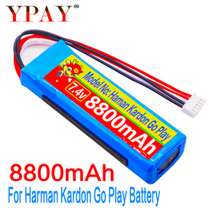 8800mAh Battery 7.4V for Harman Kardon Go Play Mini Speaker Li-Polymer Lithium Polymer Rechargeable Accumulator Replacement