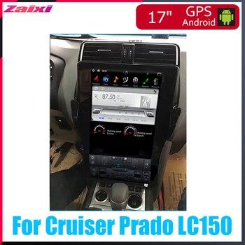 ZaiXi 17 inch Big screen Tesla Screen Vertical Screen Android Car PC Navi Radio For Toyota Land Cruiser Prado LC150 2018~2019