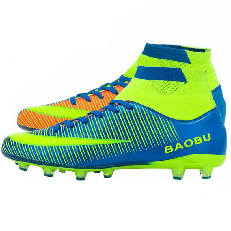Soccer-Shoes Football-Boots Sport-Sneakers Training High-Ankle Broken Men Nails Size-33-45