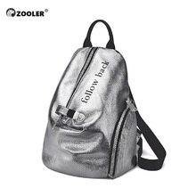 ZOOLER Fashion Women PU Leather Shiny Backpack Bling Female Mochila Girls Glitter School Bags Shine Shoulder Bag Bookbag #FH200