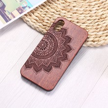 Племенной Индийский Мандала Цветок гравировка на дереве Футляр для телефона Funda для iPhone 6 6S 6Plus 7 7Plus 8 8Plus XR X XS Max 11 Pro Max