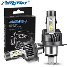 Xstorm h4 lâmpadas led carro motocicleta farol csp 50w 12000lm alta baixa feixe 12v 6000k branco moto lampada led h4 moto lâmpada