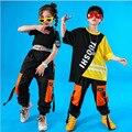 Детская одежда в стиле хип-хоп для девочек и мальчиков  пальто  штаны для бега  детские костюмы для джаза  костюмы для танцев  одежда для баль...