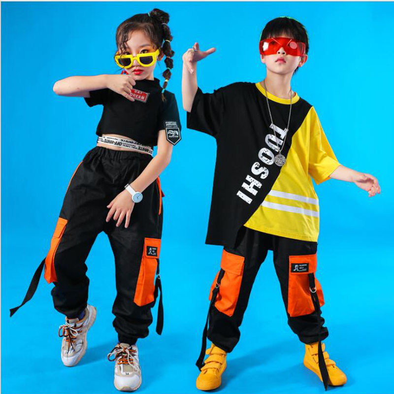 Kids Hip Hop Clothing For Girls Boys Coat Jogger Pants Kids Jazz Dance Costumes Set Ballroom Dancing Clothes Children Outfits