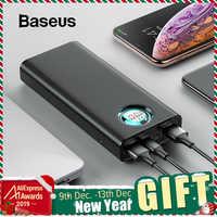 Baseus 20000mAh Accumulatori e caricabatterie di riserva Per iPhone Samsung Huawei Tipo C PD Veloce di Ricarica + Carica Rapida 3.0 USB Powerbank Esterno batteria
