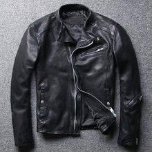 Il trasporto libero, di modo di Marca mens sottile Rivestimento di cuoio genuino, nero moda morbida pelle di pecora cappotto, abbigliamento in pelle fresca. Qualità