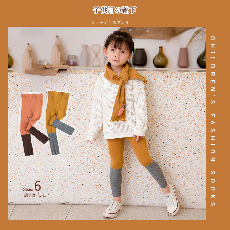 Kids Leggings Cotton Strip Pattern for Spring and Autumn 1-8T  Infant Baby  Toddler Newborn Children's Warm Pantyhose.