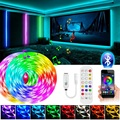 30M LED Strip Light RGB 5050 DC 12V Tape Diode 5M 10M 15M Flexible Ribbon Bluetooth Control Music Smart LED Light With Adapter