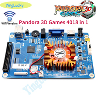 free shipping 2020 new 4018 in 1 Game Console PCB 3D Arcade Machine Board Support 3p 4p or HD Video Games Console Pandora box