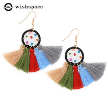 Europe and the United States of Bohemia style restoring ancient ways tassel pendant fashion ladies earrings цена 2017