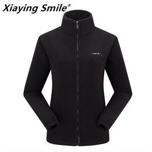 Xiaying sonrisa 2020 abrigo de lana de primavera cálido para mujer de talla grande 6XL ropa de abrigo informal con cremallera para mujer de moda al aire libre