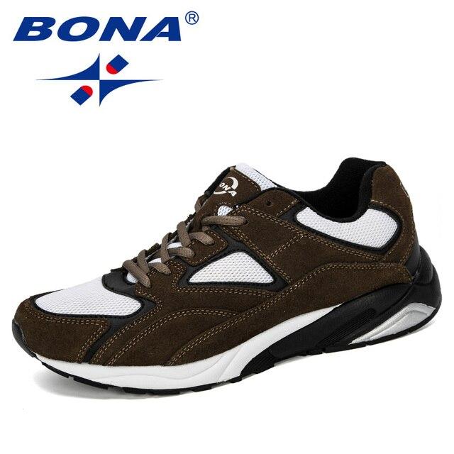 Bona 2019 novo designer dos homens tênis respirável krasovki sapatos homem super leve sapatos casuais masculino tenis masculino lazer calçado