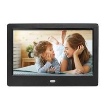 """7 """"디지털 사진 프레임 HD 1024x600 전자 Ablum 사진 프레임 알람 시계 MP3 MP4 영화 플레이어 비즈니스 생일 선물"""