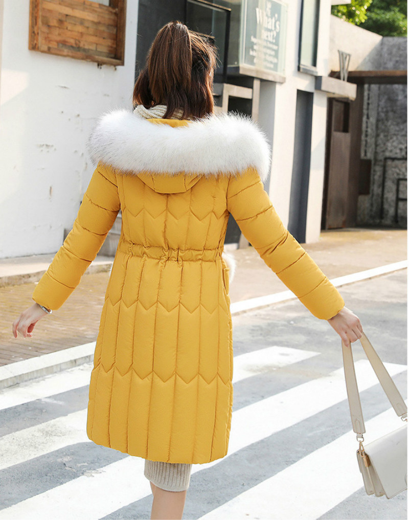 Plus size winter coat women padded cotton hooded women long jacket outwear slim white warm vintage female parka new 2019 DR1195 (11)