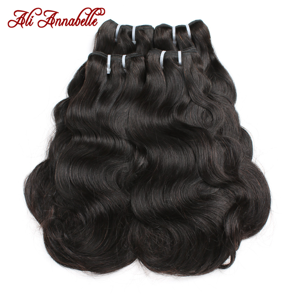 Body Wave Human Hair Bundles 1/3/4 PCS Double Drawn Human Hair Bundles Brazilian Hair Weave Bundles Ali Annabelle Hair