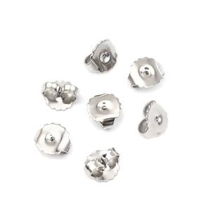 Простой Нержавеющаясталь ухо гайки пост фиксаторы уход за кожей лица серьги круглые серебряные Цвет 9 мм х 8 мм, 20 шт.