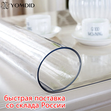 Soft Glass Tablecloth Rectangular Table-1.0mm Transparency Kitchen Waterproof PVC
