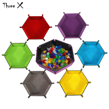 Dicekeeper PU Leather Tray Both Side Available Soft Velvet 6 color Foldable Favorites Storage Box Boardgame