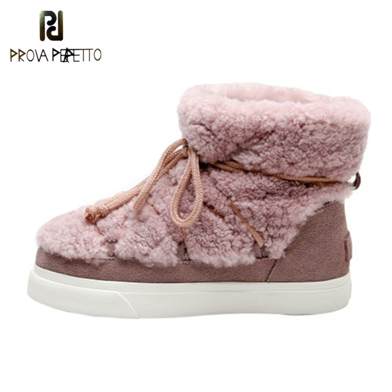 Sweet Women Wool Cow Suede Ankle Boots Female Big Size Snow Boots Dancing Casual Shoes Woman Newest Flats Platform Boots 31