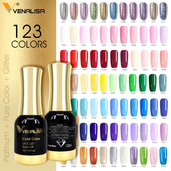 VENALISA Super Color Gel Paints Crystal Lacquer CANNI Nail Art Glitter Pearl Diamonds Soak off Platinum UV LED Gel Nail Polish 1
