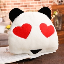 Wholesale Red Panda Hand Warmer Pillow Cushion Plush Toy Can Be Printed Company Logo