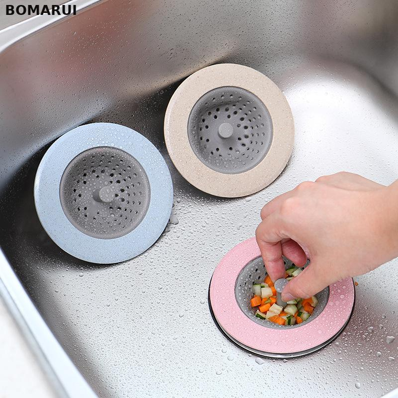 kitchen sink strainer Bathroom Kitchen Plastic Sink Strainer Washbasin Sink Filter Silica Gel Anti-blocking Sink Drains Cover