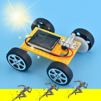 Solar Car DIY Assemble Toy Set Solar Powered Car Kit Educational Science for Kid Gift Kids toys zabawki juguetes brinquedos New image