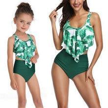 Семейный летний купальный костюм 2020 бикини с цветочным рисунком