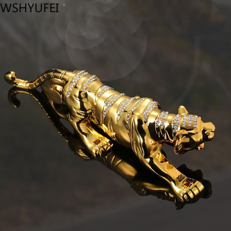 Chinese style metal Tiger model Wealth success Decoration Home Office Decoration Tabletop Ornaments Car accessories|Figurines & Miniatures| - AliExpress