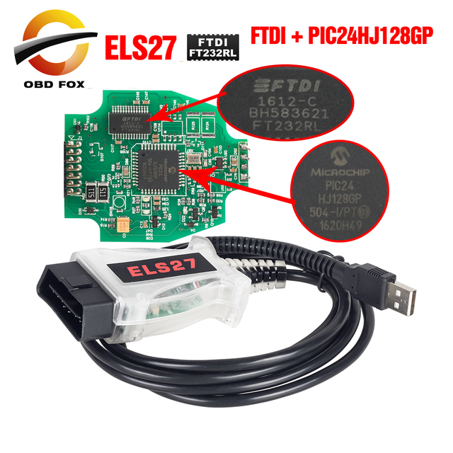 ELS27 FORScan Máy Quét OBD2 Công Cụ Chẩn Đoán Cho Obd2 Giao Thức Thông Qua 16pin Cổng Kết Nối Elm 327 FTDI + PIC24HJ128GP Chip