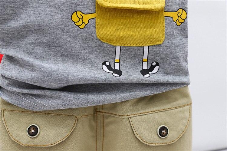 bebê recém-nascido algodão camiseta topos + shorts