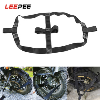 LEEPEE Universal Motorcycle Rear Wheel  Fixing Belt Strap Fastening Webbing Motorbike Transportation Tie-Down Safe - discount item  22% OFF Auto Replacement Parts