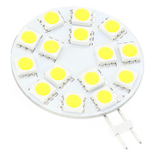 15LED G4 Light Dimmable Lamp  5050SMD 300 330LM 3W Red Blue White Wide voltage AC/DC10 30V  For Boats Ships Automobiles 5pcs/lot