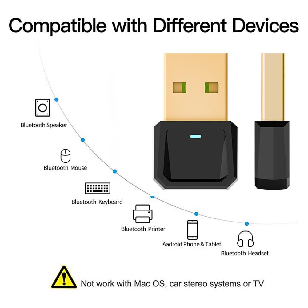 Высокое качество USB Bluetooth 5,0 адаптер приемник передачи беспроводной адаптер для ноутбука ПК мышь клавиатура динамик