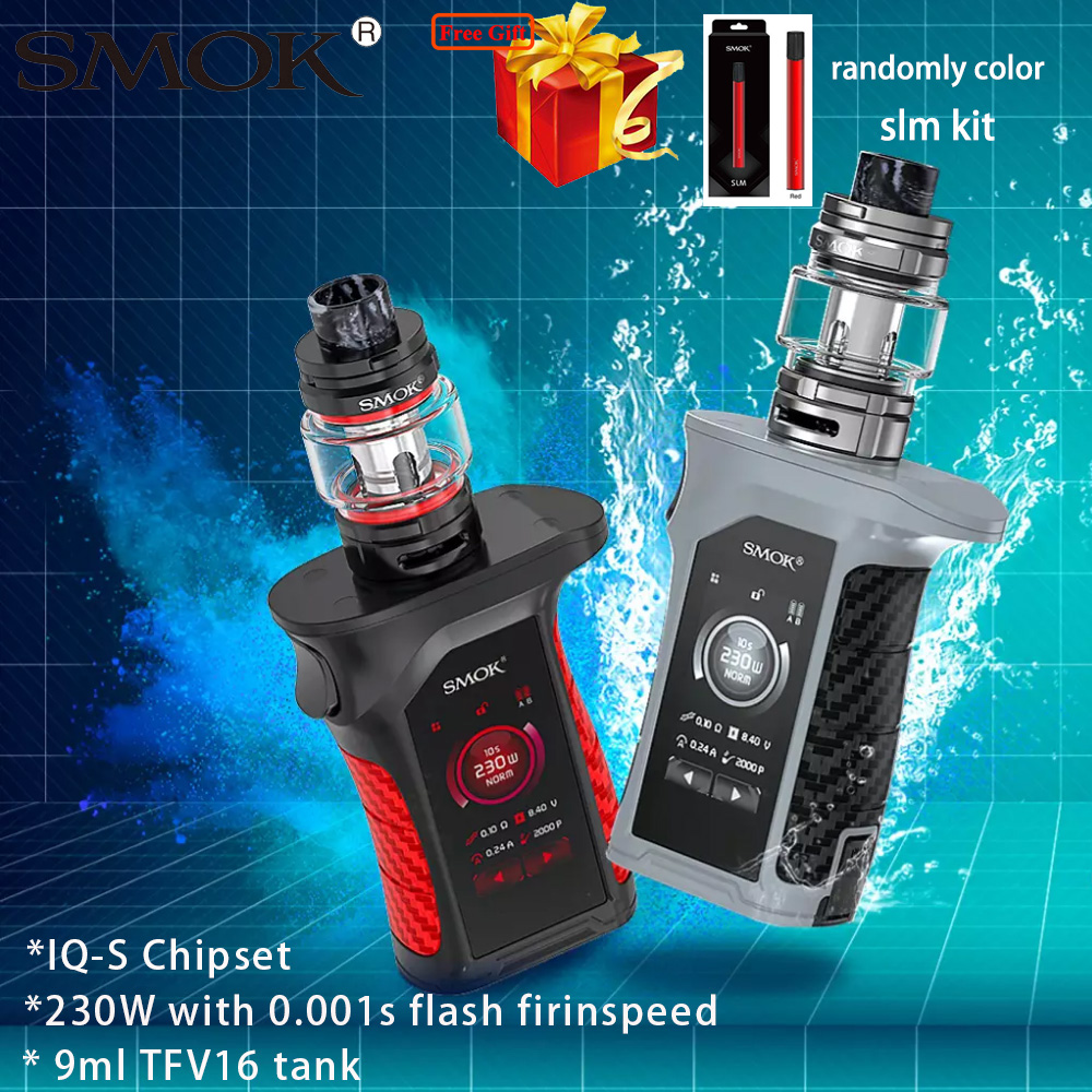 Regalo Smok Mag P3 Kit 230W Mag P3 caja Mod y 9ml TFV16 tanque vaporizador E cigarrillo Kit de vaporizador IQ-S Chipset por baterías duales 18650