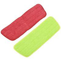 4 almofadas de substituição do esfregão do pulverizador dos pces uso lavável da limpeza molhada/seca de microfiber do reenchimento reutilizável  fonte da limpeza (4 bloco  verde & vermelho)|Esfregão| |  -