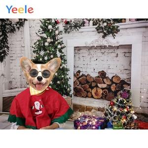Image 3 - Yeele Brick Wall Christmas Holidays Tree Firewood Baby Photography Background Customized Photographic Backdrops for Photo Studio