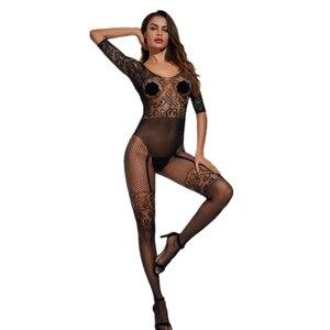Женское нижнее белье в сеточку размера плюс, нижнее белье с прозрачной открытой спиной