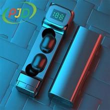 PJD TWS BT5.1 słuchawki Bluetooth sterowanie dotykowe słuchawki bezprzewodowe z etui z funkcją ładowania słuchawki 9D radio HiFi słuchawki Bluetooth